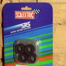 Scalextric: SCALEXTRIC SRS - 4 NEUMATICOS (156 TACOS RALLYE) - 7203 - NUEVO Y EN SU BLISTER ORIGINAL. Lote 255997970