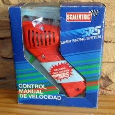Scalextric: SCALEXTRIC SRS - CONTROL MANUAL DE VELOCIDAD - MANDO - NUEVO Y EN SU CAJA ORIGINAL. Lote 256000600