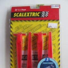Scalextric: SCALEXTRIC REF: 8814 Y 88140 - PERALTE REGULABLE 3 POSICIONES NUEVO (2). Lote 261620865