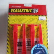 Scalextric: SCALEXTRIC REF: 8814 Y 88140 - PERALTE REGULABLE 3 POSICIONES NUEVO (5). Lote 261621000