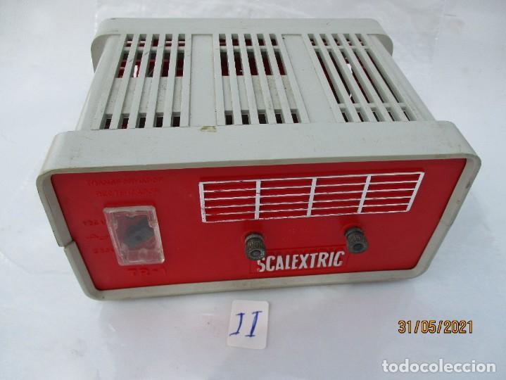 SCALEXTRIC EXIN TRANSFORMADOR TR1 GRIS ROJO (Juguetes - Slot Cars - Scalextric Pistas y Accesorios)