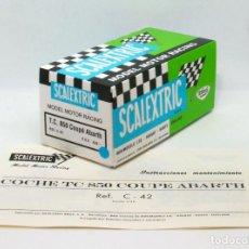 Scalextric: CAJA REPRO SCALEXTRIC EXIN TRIANG TC SEAT 850 COUPÉ ABARTH C-42 + INSTRUCCIONES. Lote 278704943