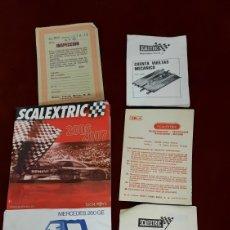 Scalextric: MANUALES VARIOS PAPELERIA SCALEXTRIC. Lote 295428948