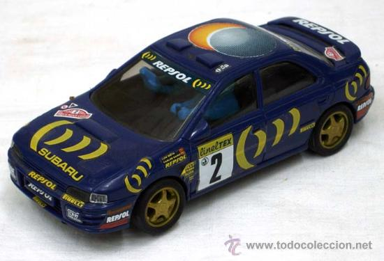 SUBARU SCX SCALEXTRIC AZUL MARINO (Juguetes - Slot Cars - Scalextric SCX (UK))