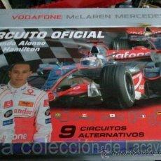 Scalextric: CIRCUITO VODAFONE MCLAREN-MERCEDES CON LOS COCHES DE ALONSO Y HAMILTON SIN ESTRENAR. Lote 28052710