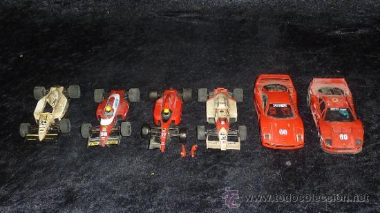 LOTE DE 6 COCHES DE SCALEXTRIC ANTIGUOS. DESCONOZCO DEL TEMA, VER FOTOS. (Juguetes - Slot Cars - Scalextric SCX (UK))