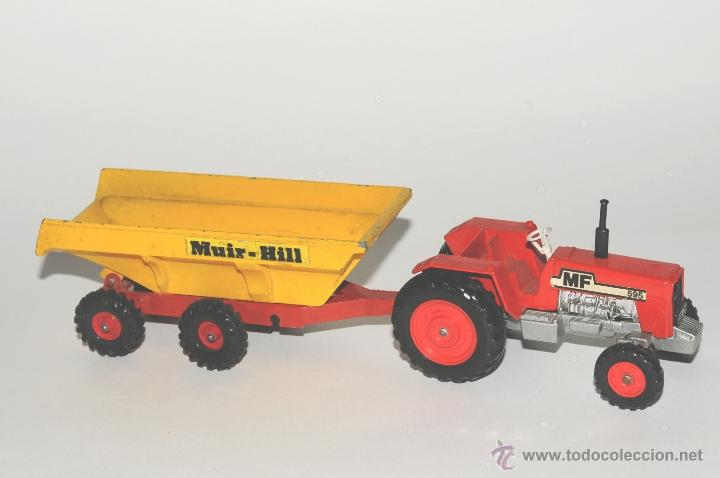 TRACTOR CON REMOLQUE, MASSEY FERGUSON MATCHBOX MADE IN ENGLAND 1978 (Juguetes - Slot Cars - Scalextric SCX (UK))