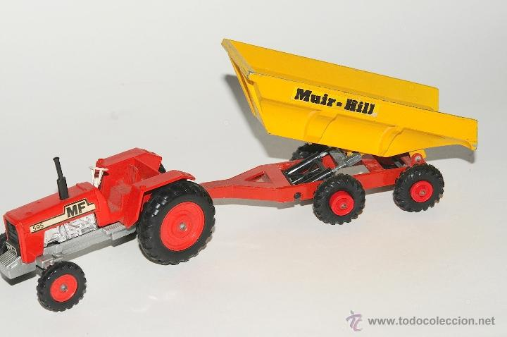 Scalextric: TRACTOR CON REMOLQUE, MASSEY FERGUSON MATCHBOX MADE IN ENGLAND 1978 - Foto 3 - 42403913