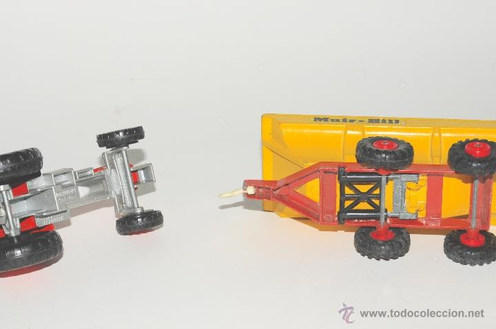 Scalextric: TRACTOR CON REMOLQUE, MASSEY FERGUSON MATCHBOX MADE IN ENGLAND 1978 - Foto 7 - 42403913