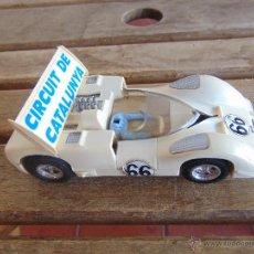 Scalextric: COCHE DE PISTA CHAPARRAL GT DE SCALEXTRIC SCX CIRCUIT DE CATALUNYA ROTO EN BARRAS ALERON. Lote 52635023