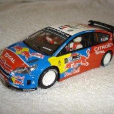Scalextric: SCALEXTRIC TECNITOYS-SCX : CITROEN C4 WRC --DECORACION RED BULL. Lote 60453131