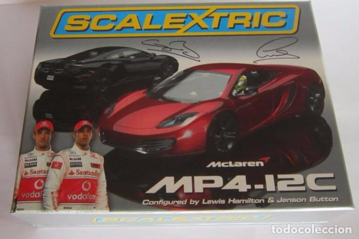 COCHE SCALEXTRIC MCLAREN MP4-12C HAMILTON Y BUTTON, EN CAJA. CC (Juguetes - Slot Cars - Scalextric SCX (UK))