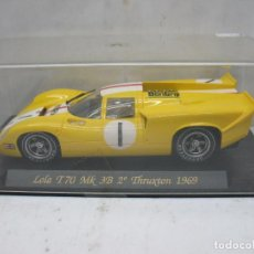 Scalextric: FLY REF: 000C32 - LOLA T70 MK 3B 2º THRUXTON 1969. Lote 135646445