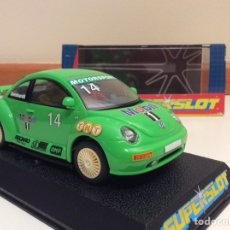 Scalextric: VW NEW BEETLE SUPERSLOT. Lote 89097667