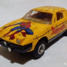 Scalextric: TRIUMPH TR7 SPIDERMAN AMARILLO * SCX-UK C321 (1984) /CR/. Lote 98397511