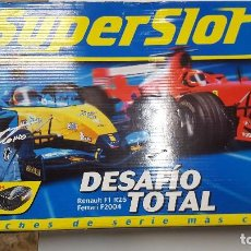 Scalextric: SUPERSLOT CIRCUITO DESAFIO TOTAL COMPLETO MAS DE 6 MTS DE RECORRIDO. Lote 103638183