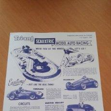 Scalextric: SCALEXTRIC TINPLATE CANADA RARO FOLLETO AÑO 1959. Lote 112621654