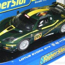 Scalextric: LOTUS EVORA GT SUPERSLOT/SCALEXTRIC NUEVO EN CAJA. Lote 117876691