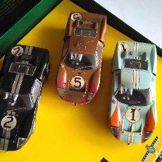 Scalextric: SUPERSLOT SCALEXTRIC INGLÉS UK SET LE MANS 1966. LOS 3 FORD GT , 1º,2º Y 3º. NUEVOS. MUY DETALLADOS. Lote 120833155