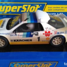 Scalextric: SUPERSLOT SCALEXTRIC INGLÉS UK FORD SIERRA RS 200 KARCHER. NUEVO, EN URNA. Lote 129106051