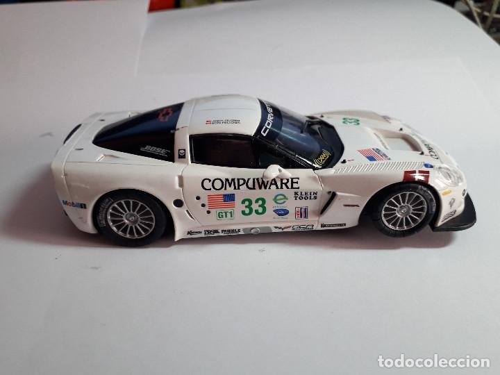 Scalextric: 06-00043 - coche scalextric 2005 corvette C6R blanco (SIN ALERON) - Foto 2 - 129374919