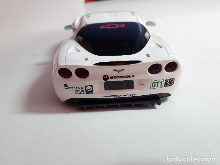 Scalextric: 06-00043 - coche scalextric 2005 corvette C6R blanco (SIN ALERON) - Foto 3 - 129374919