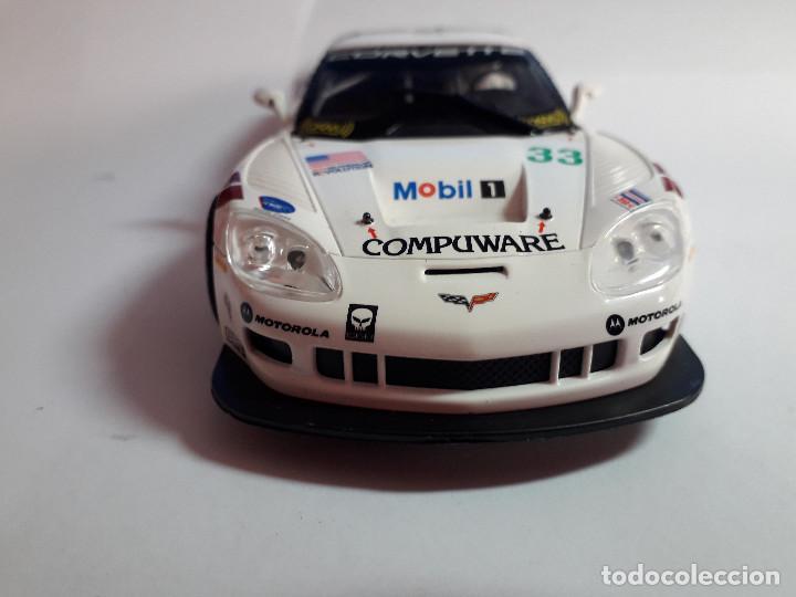 Scalextric: 06-00043 - coche scalextric 2005 corvette C6R blanco (SIN ALERON) - Foto 4 - 129374919