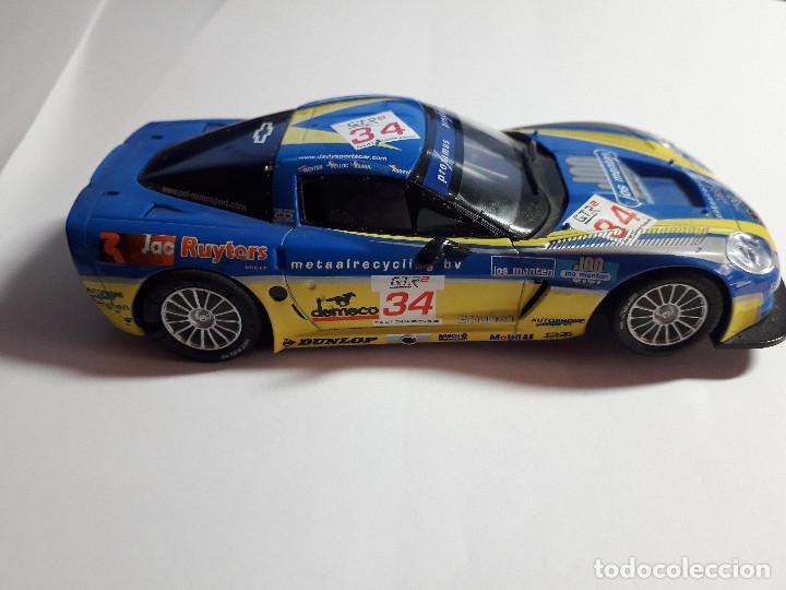 Scalextric: 06-00049 - coche scalextric 2005 corvette C6R AZUL (SIN ALERON) - Foto 2 - 129375083