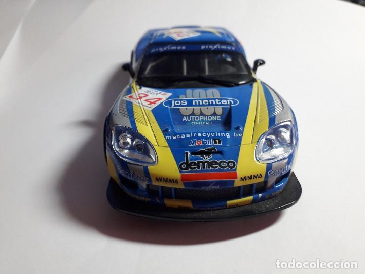 Scalextric: 06-00049 - coche scalextric 2005 corvette C6R AZUL (SIN ALERON) - Foto 4 - 129375083