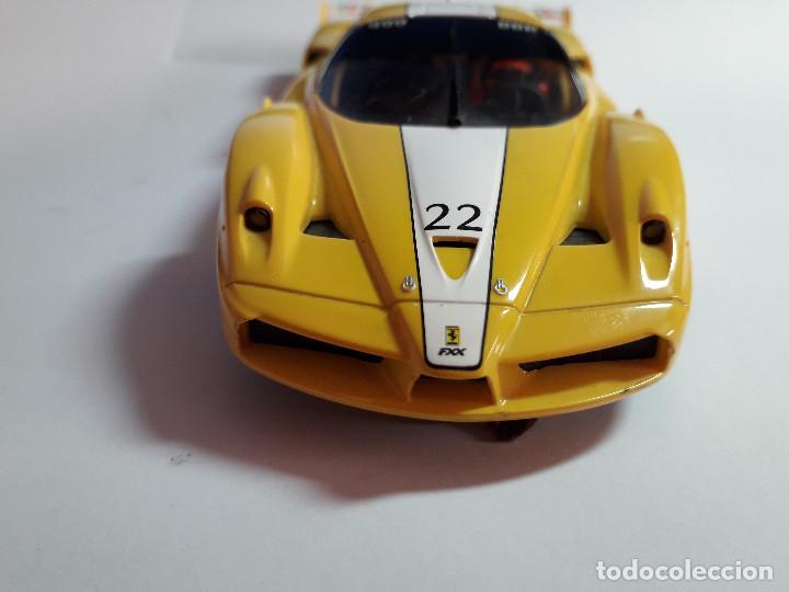 Scalextric: 06-00044 - coche SCALEXTRIC. FERRARI FXX AMARILLO - Foto 4 - 129375175