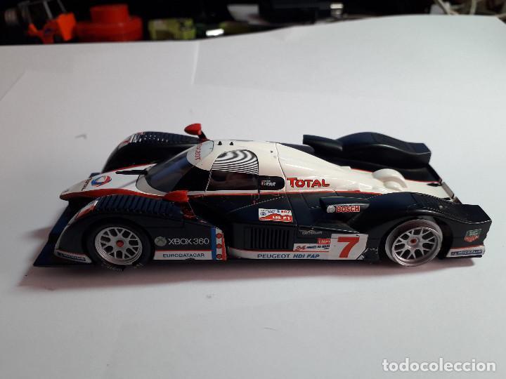 Scalextric: 06-00045 - coche scalextric audi r10 plateado (FALTA PILOTO TRASERO) - Foto 2 - 129375451