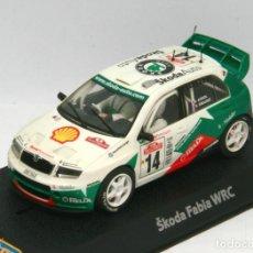 Scalextric: SKODA FABIA WRC DIDIER AURIOL (SCALEXTRIC-SUPERSLOT) CON LUCES Y 4X4. Lote 132556358