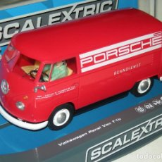Scalextric: VOLKSWAGEN VAN T1 TEAM PORSCHE SUPERSLOT/SCALEXTRIC UK NUEVA EN CAJA. Lote 186062906