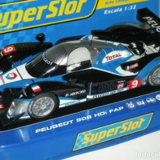 Scalextric: PEUGEOT 908 HDI CAMPEÓN LE MANS 2009 GENÉ SUPERSLOT/SCALEXTRIC UK. Lote 135447470
