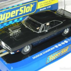 Scalextric: DODGE CHARGER BLACK SUPERSLOT/SCALEXTRIC NUEVO EN CAJA. Lote 143803934