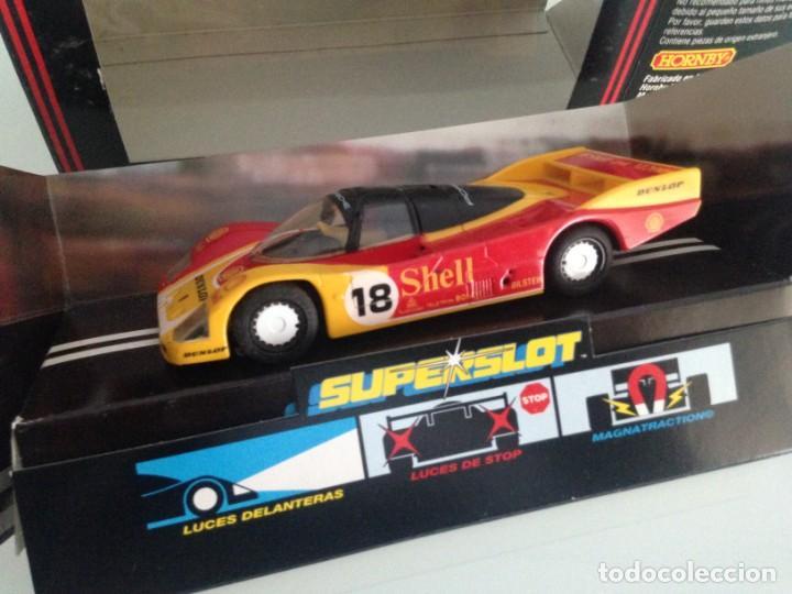 SLOT, SUPERSLOT C-463, PORSCHE 962C SHELL Nº18,B.WOLLECK-V.SCHUPPAN-S.V.DER MERWE, LE MANS 1988 (Juguetes - Slot Cars - Scalextric SCX (UK))