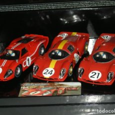 Scalextric: TRIPLE PACK 24 HORAS LE MANS 1967 SUPERSLOT/SCALEXTRIC UK NUEVO EN CAJA. Lote 149685590