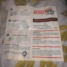 Scalextric: INSTRUCCIONES MANTENIMIETO ALFA, JAGUAR SCALEXTRIC SUPER 124. Lote 150577069