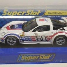 Scalextric: J10- CHEVROLET CORVETTE C6R GT2 60 ANIVERSARIO SUPERCLUB SUPERSLOT RARO DIFICIL!!! NUEVO. Lote 151869638
