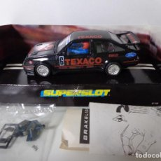 Scalextric: FORD SIERRA RS500 TEXACO #6 BTCC 1988 ORIGINAL SUPERSLOT SCALEXTRIC 1:32, NUEVO A ESTRENAR EN CAJA. Lote 152333662