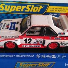 Scalextric: SUPERSLOT SCALEXTRIC UK INGLÉS, AUDI SPORT QUATTRO E2 RALLY SUECIA 1990, CON LUCES,DIGITALIZABLE. Lote 156870054