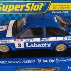 Scalextric: SUPERSLOT SCALEXTRIC UK INGLÉS,FORD SIERRA RS500, 1990 RACC CON LUZ TRASERA. ,DIGITALIZABLE. Lote 156871542