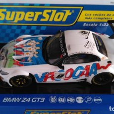 Scalextric: SUPERSLOT SCALEXTRIC UK INGLÉS,BMW Z4 GT3,24H SPA 2015, CON LUCES.DIGITALIZABLE. Lote 156873150