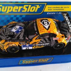 Scalextric: SUPERSLOT SCALEXTRIC UK INGLÉS,BMW Z4 GT3,24H NURBURGRING , CON LUCES.DIGITALIZABLE. Lote 156873530