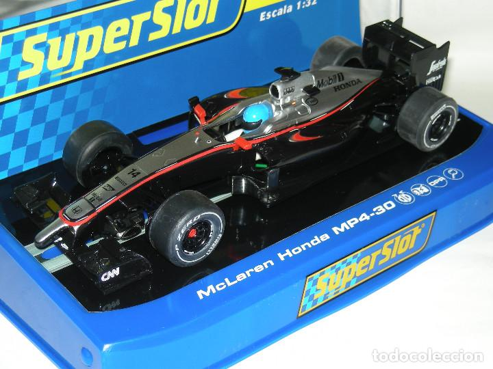F1 MCLAREN/HONDA MP4-30 FERNANDO ALONSO SUPERSLOT/SCALEXTRIC NUEVO EN CAJA (Juguetes - Slot Cars - Scalextric SCX (UK))