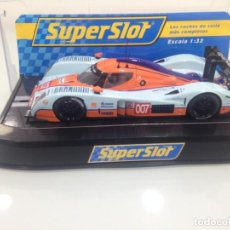 Scalextric: SLOT, SUPERSLOT S3188, LOLA-ASTON MARTIN DBR1-LMP1 Nº007, GULF, LE MANS 2009. Lote 168361400