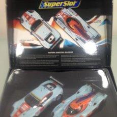 Scalextric: SLOT, SUPERSLOT H3055A,TES3055A, ASTON MARTIN RACING, GULF, LMP1, GTE DBR9. Lote 168493480