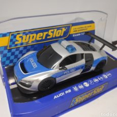 Scalextric: SUPERSLOT AUDI R8 POLICE CAR REF. H3374. Lote 169133785
