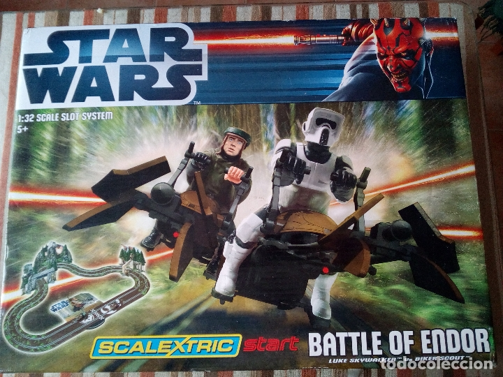 -CAJA SCALEXTRIC STAR WARS-BATTLE OF ENDOR-MUY RARO (Juguetes - Slot Cars - Scalextric SCX (UK))