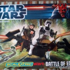 Scalextric: -CAJA SCALEXTRIC STAR WARS-BATTLE OF ENDOR-MUY RARO. Lote 170158612